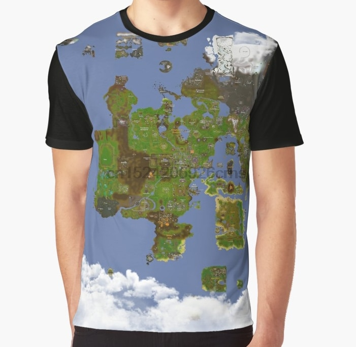 About 3D Printing Men Women T Div Osrs World Map Graphic Tee